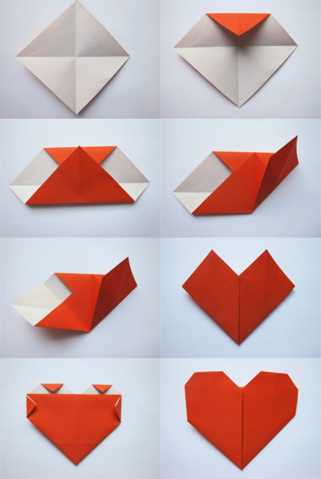 Валентинки в технике оригами_1