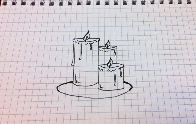Срисовываем красивые рисунки карандашом в тетрадь для девочек-1