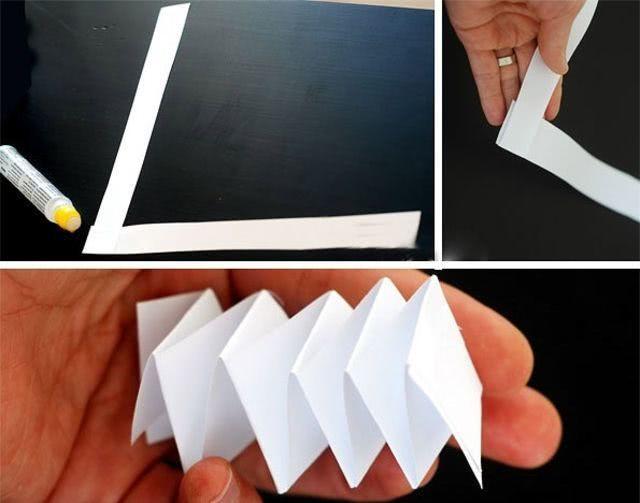 Схема новогоднего венка из бумаги - поделка руками детей_3