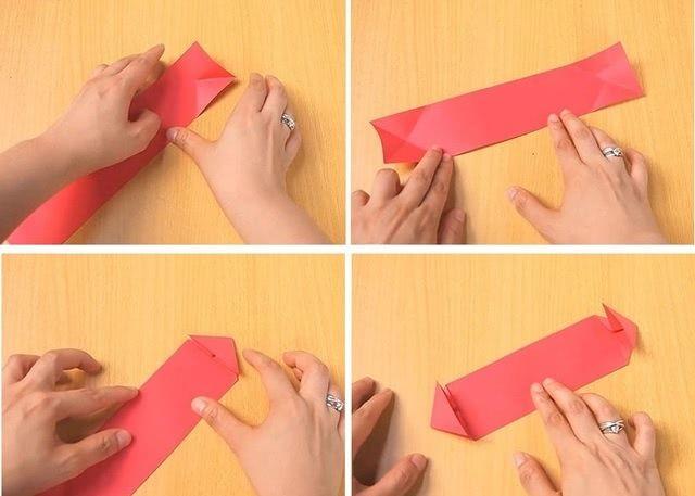 Танк в технике оригами для школьной поделки на 9 мая_2