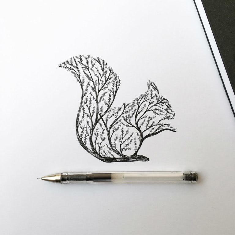 Срисовываем красивые рисунки карандашом в тетрадь для девочек-2