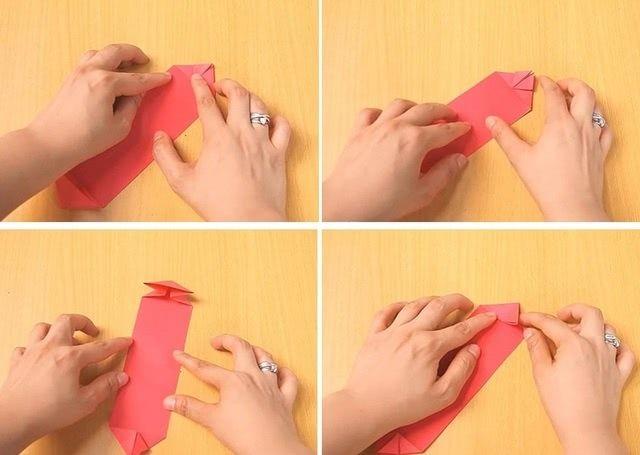 Танк в технике оригами для школьной поделки на 9 мая_3