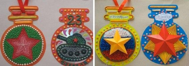 «Медали и ордена» - самая красивая поделка ко Дню защитника Отечества для детей 4 класса_1
