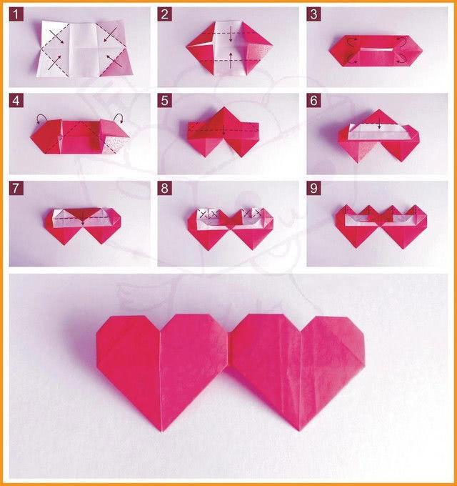 Валентинки в технике оригами_2