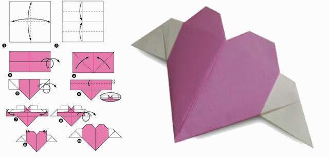 Валентинки в технике оригами_3