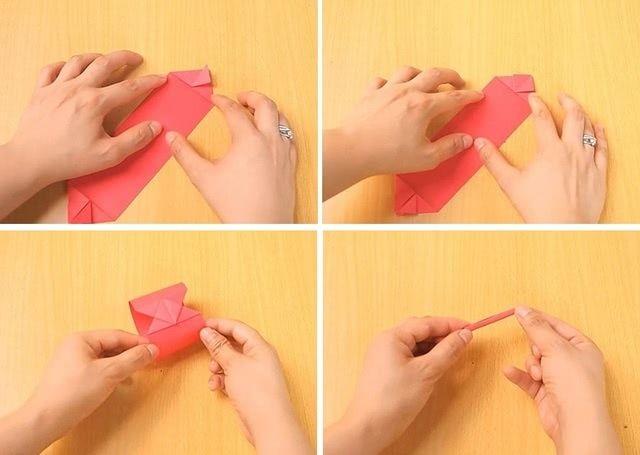 Танк в технике оригами для школьной поделки на 9 мая_4