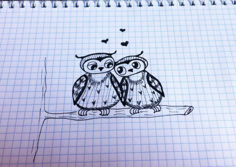Срисовываем красивые рисунки карандашом в тетрадь для девочек-3
