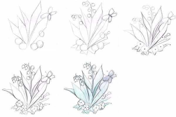 Красивые рисунки цветов для поэтапной срисовки карандашом-2