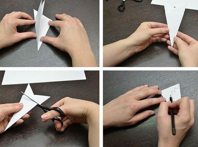 Пошаговый мастер-класс вырезания красивых бумажных снежинок-2