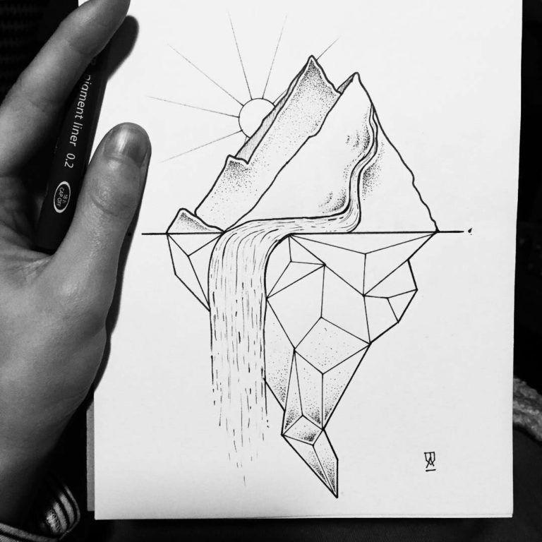 Срисовываем красивые рисунки карандашом в тетрадь для девочек-4