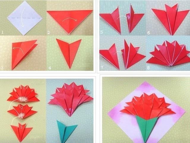 Оригами «Гвоздика на День Победы»_1