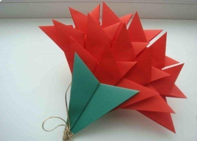 Оригами «Гвоздика на День Победы»_2