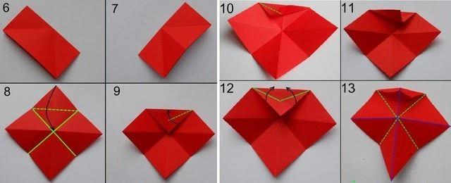 Цветок в технике оригами - Такую красоту можно нести на конкурс поделок_2