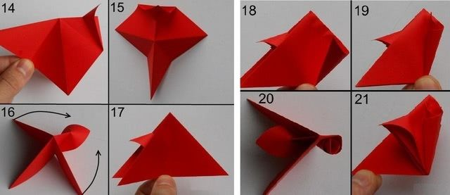 Цветок в технике оригами - Такую красоту можно нести на конкурс поделок_4