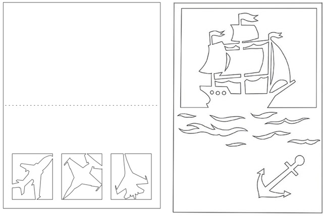 Открытки в технике художественного вырезания (для конкурса на 23 февраля)_9