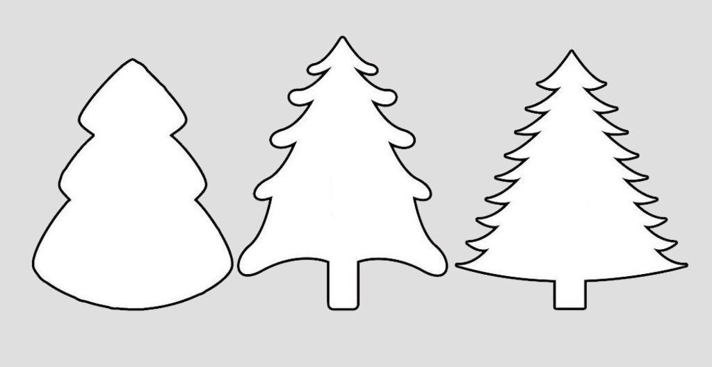 Шаблоны Новогодняя елка для вытынанок (можно распечатать и вырезать)-3