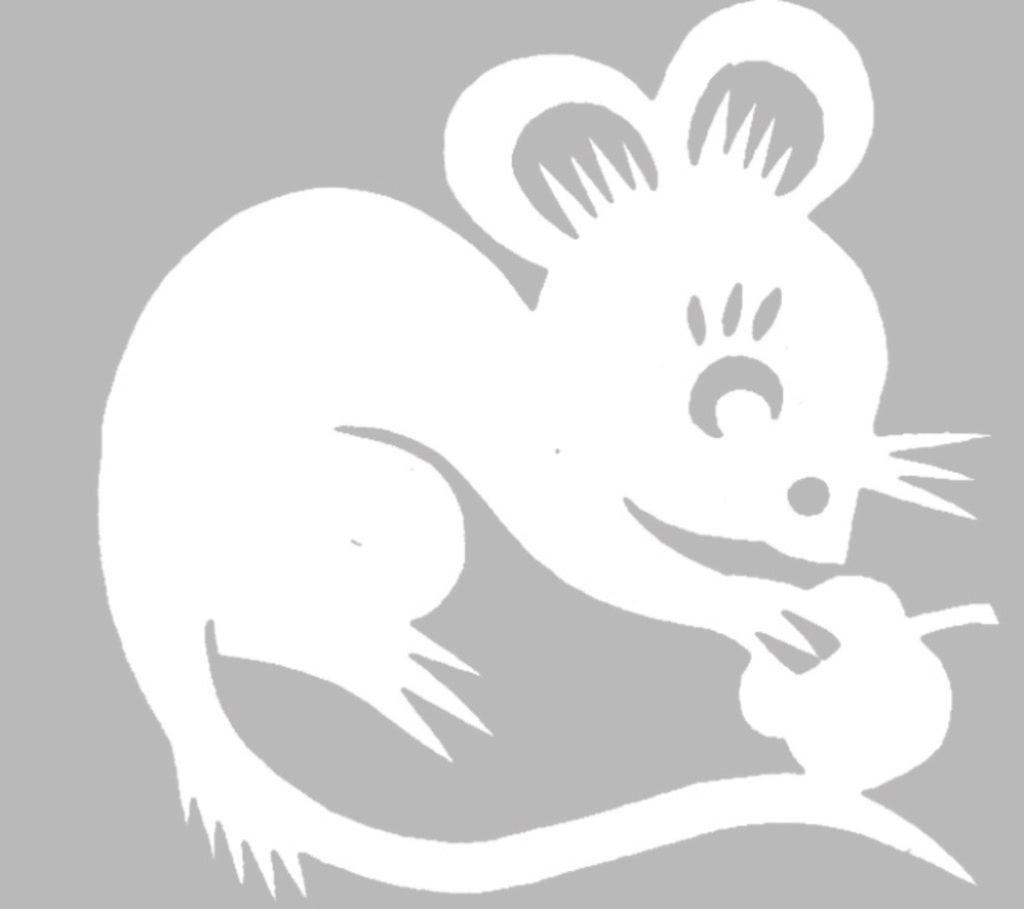 Вытынанки на Новый год 2020: шаблоны крысы и мыши скачать и распечатать-3