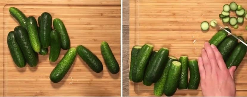 Как приготовить малосольные огурцы с чесноком и укропом в пакете за 15 минут_1