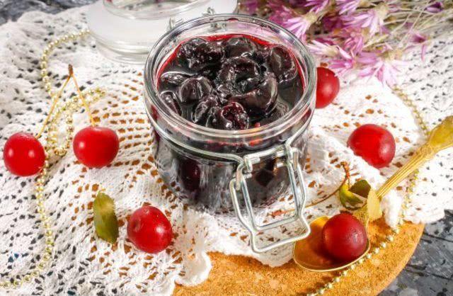 Варенье из черешни без косточек Пятиминутка для начинающих — рецепт на зиму_1