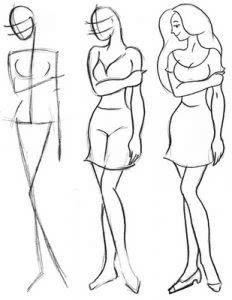 Поэтапное рисование людей карандашом для девочек 10 лет-3