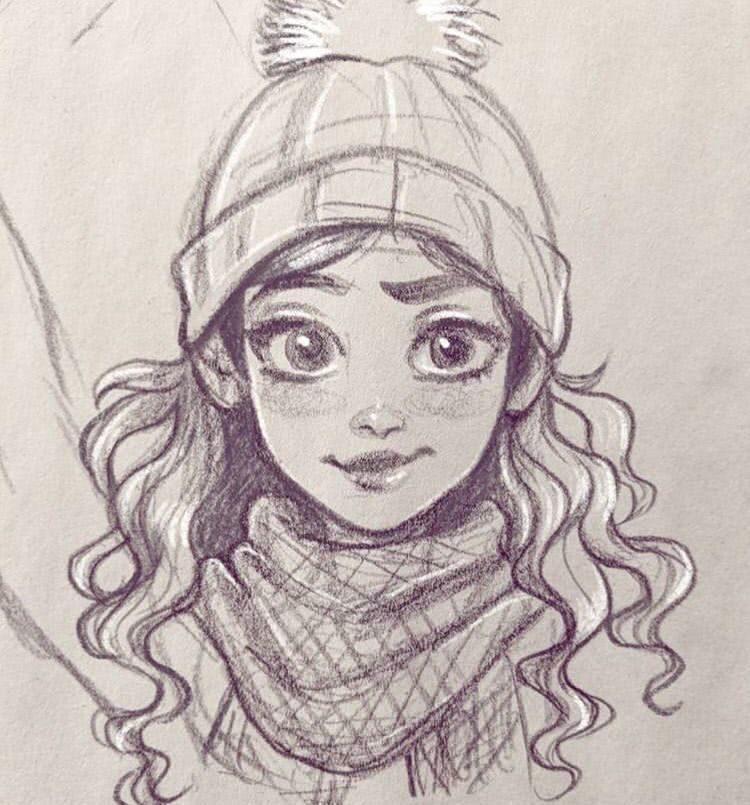 Поэтапное рисование людей карандашом для девочек 10 лет-5