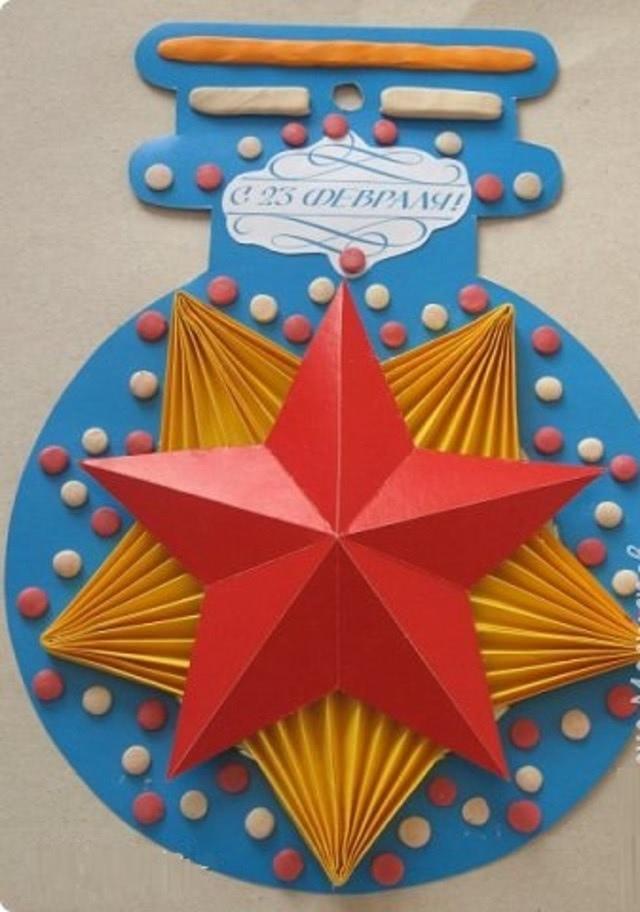 «Медали и ордена» - самая красивая поделка ко Дню защитника Отечества для детей 4 класса_17