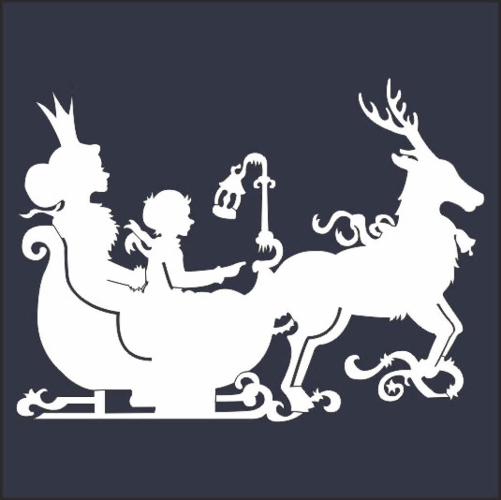 Сказочные новогодние вытынанки: домики, Щелкунчик, Снежная королева (шаблоны для распечатки и вырезания)-1