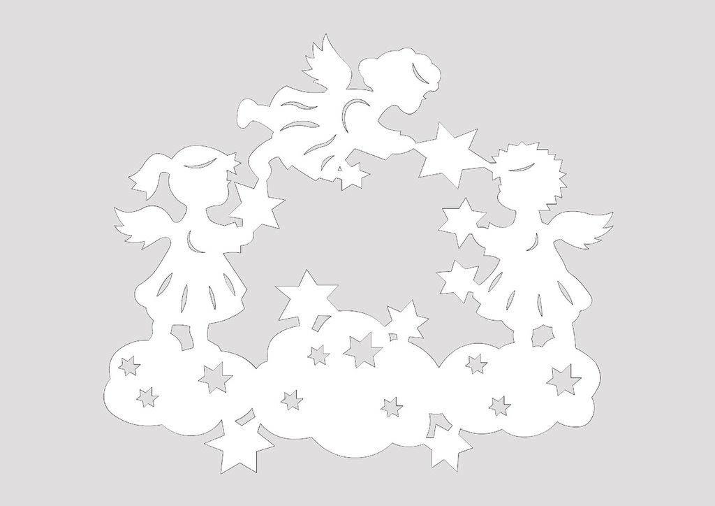 Сказочные новогодние вытынанки: домики, Щелкунчик, Снежная королева (шаблоны для распечатки и вырезания)-3