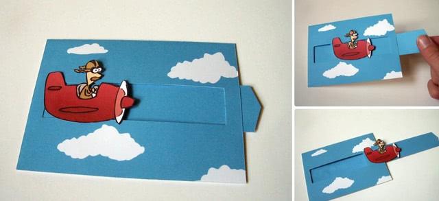 Простая открытка-слайдер для поделки своими руками на День защитника Отечества_2