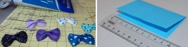 Красивая и простая поделка-открытка из цветной бумаги и макарон фарфалле своими руками_1