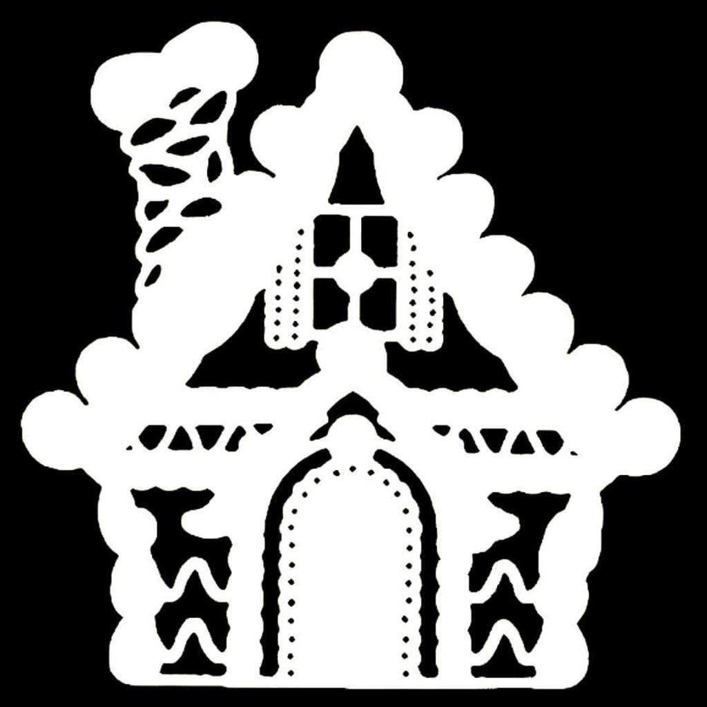 Сказочные новогодние вытынанки: домики, Щелкунчик, Снежная королева (шаблоны для распечатки и вырезания)-6