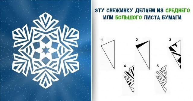 Пошаговый мастер-класс вырезания красивых бумажных снежинок-4