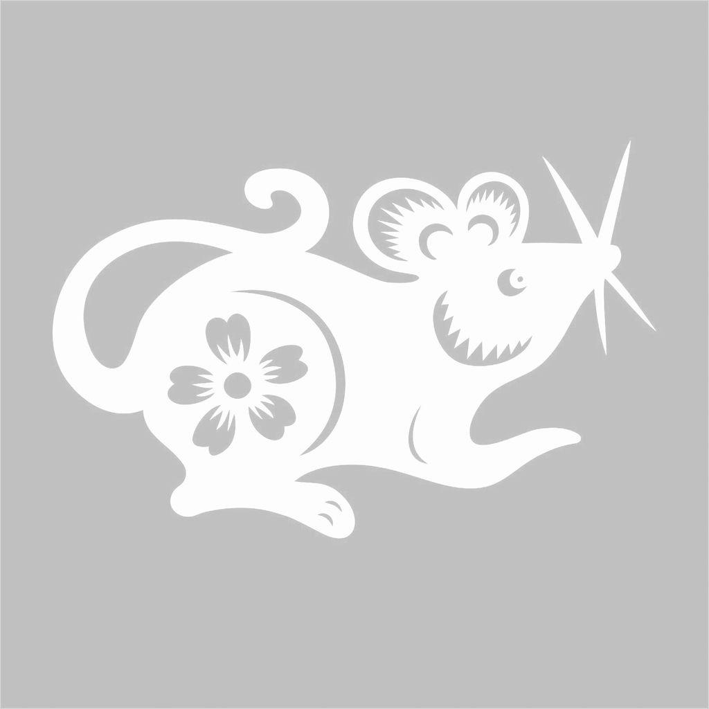 Вытынанки на Новый год 2020: шаблоны крысы и мыши скачать и распечатать-4