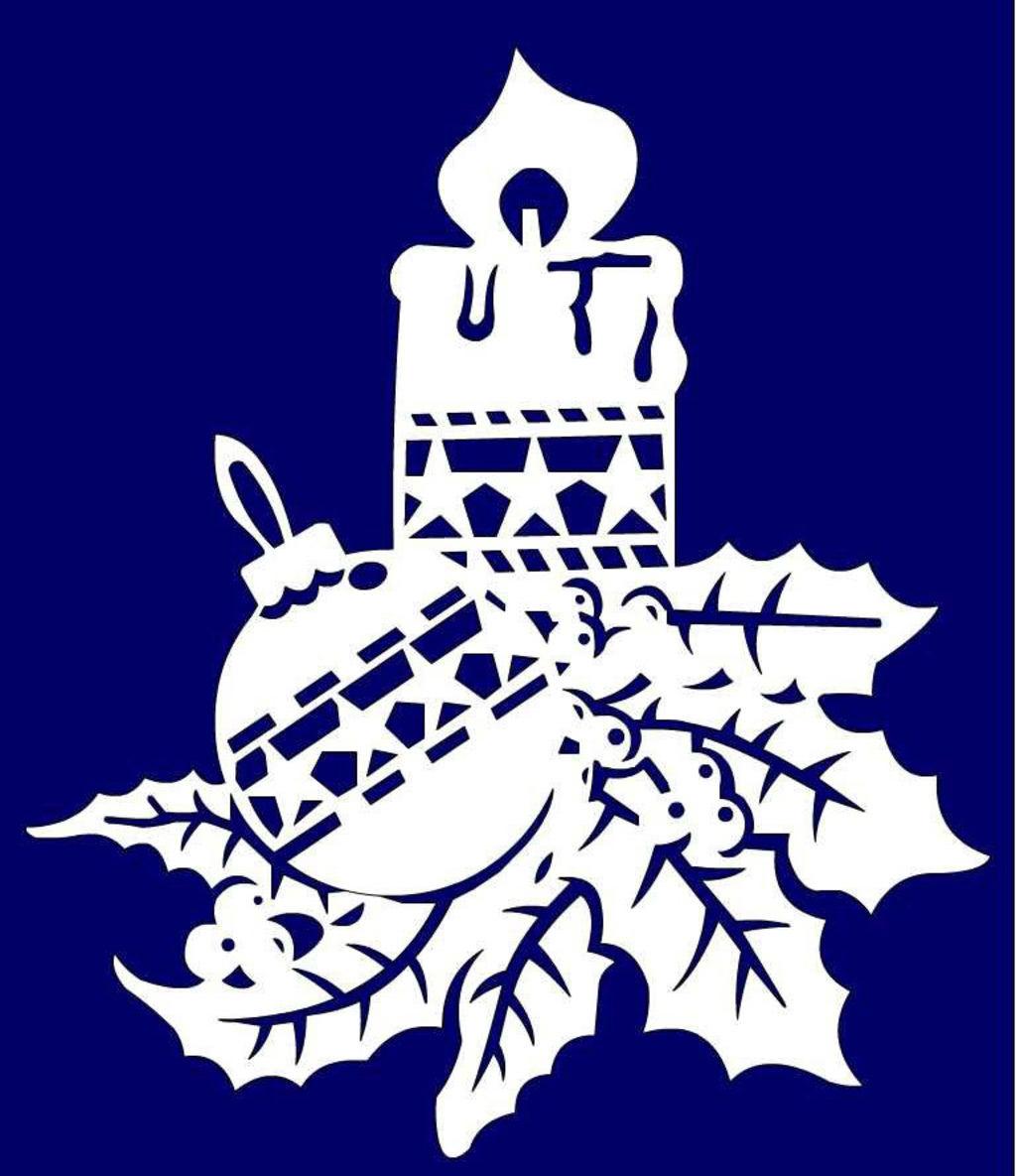 Сказочные новогодние вытынанки: домики, Щелкунчик, Снежная королева (шаблоны для распечатки и вырезания)-7
