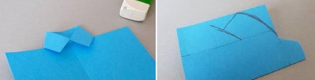 Красивая и простая поделка-открытка из цветной бумаги и макарон фарфалле своими руками_3