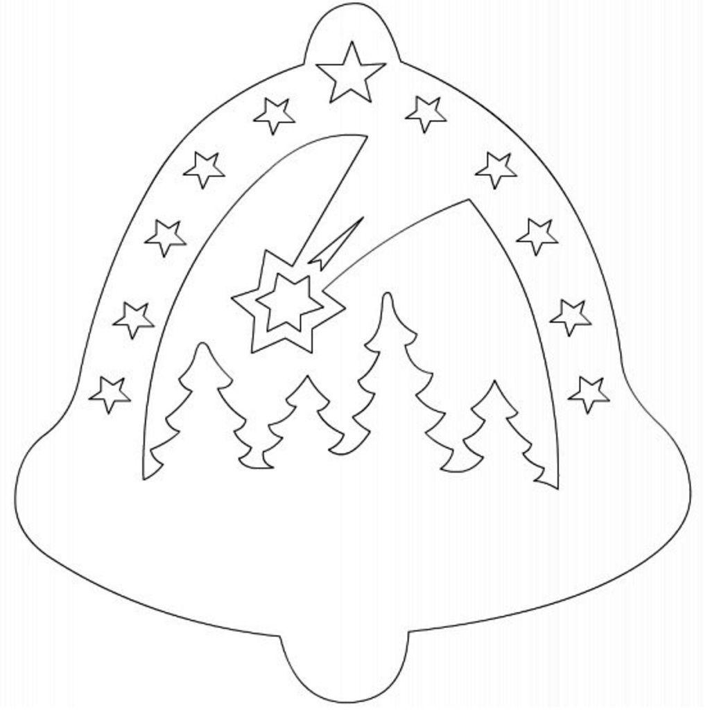 Сказочные новогодние вытынанки: домики, Щелкунчик, Снежная королева (шаблоны для распечатки и вырезания)-11