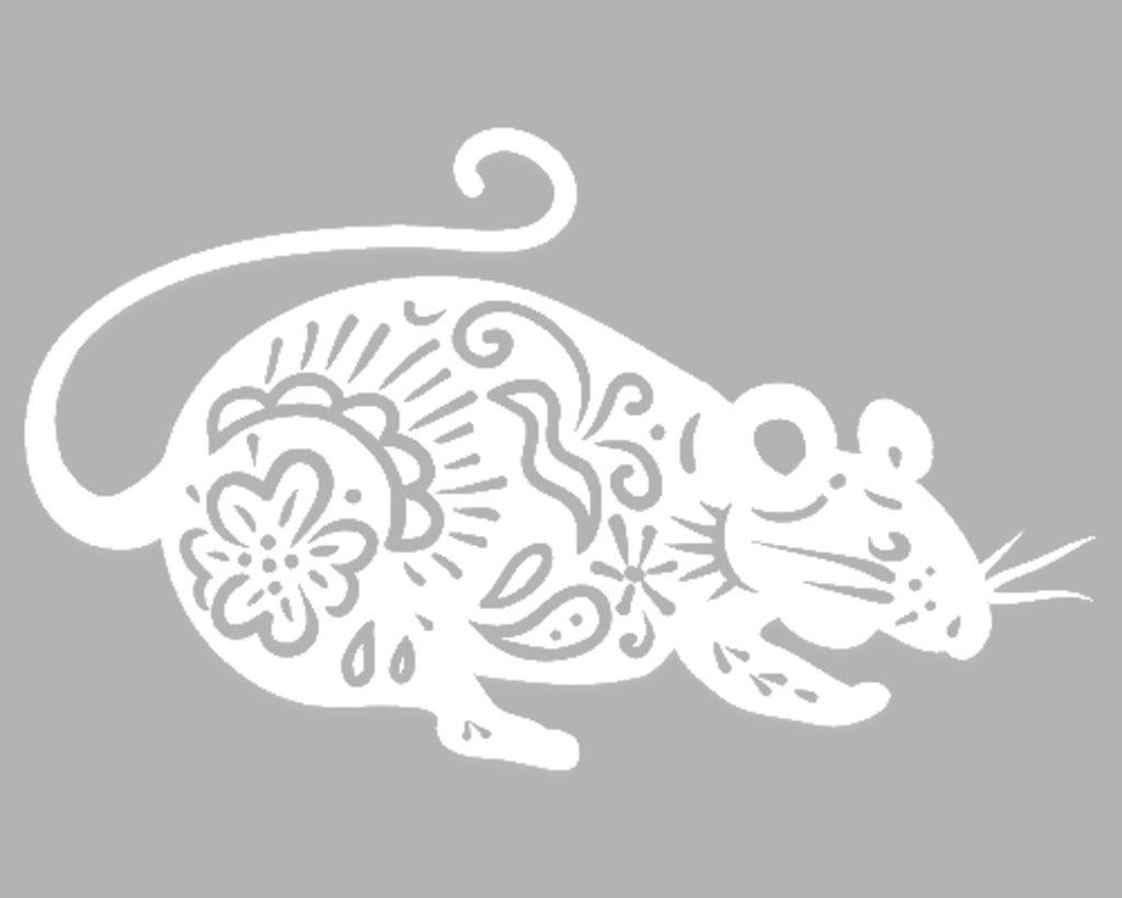 Вытынанки на Новый год 2020: шаблоны крысы и мыши скачать и распечатать-5