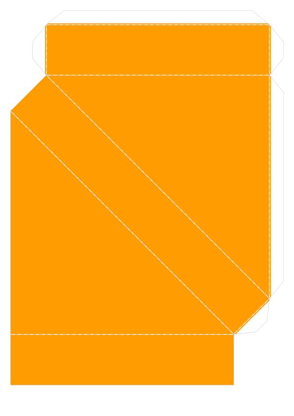 Шаблон объёмного танграма из бумаги для распечатки_2