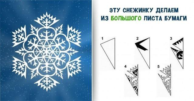 Пошаговый мастер-класс вырезания красивых бумажных снежинок-7