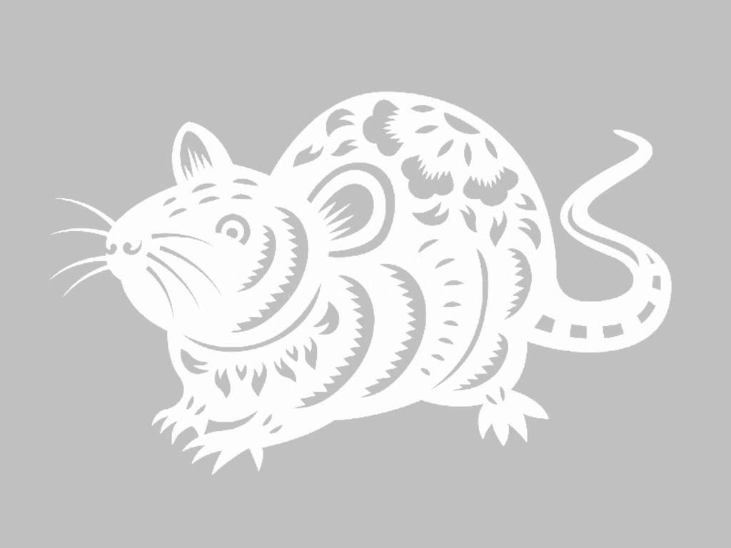 Вытынанки на Новый год 2020: шаблоны крысы и мыши скачать и распечатать-7