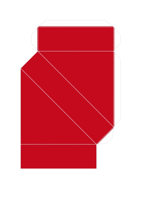 Шаблон объёмного танграма из бумаги для распечатки_4