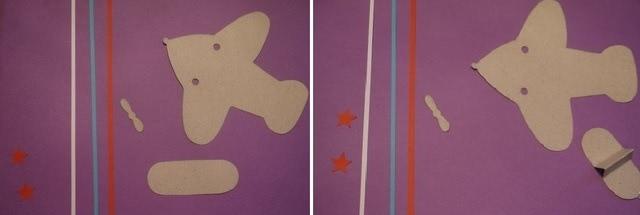«Самолет с посланием» - одна из самых красивых поделок на основе бумажного шаблона_2
