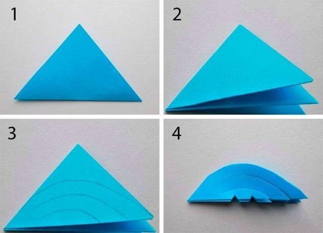 Как легко и просто можно сделать красивую двустороннюю снежинку из бумаги (пошагово)-1