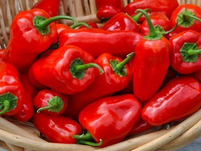 Красный перец содержит фолиевую кислоты